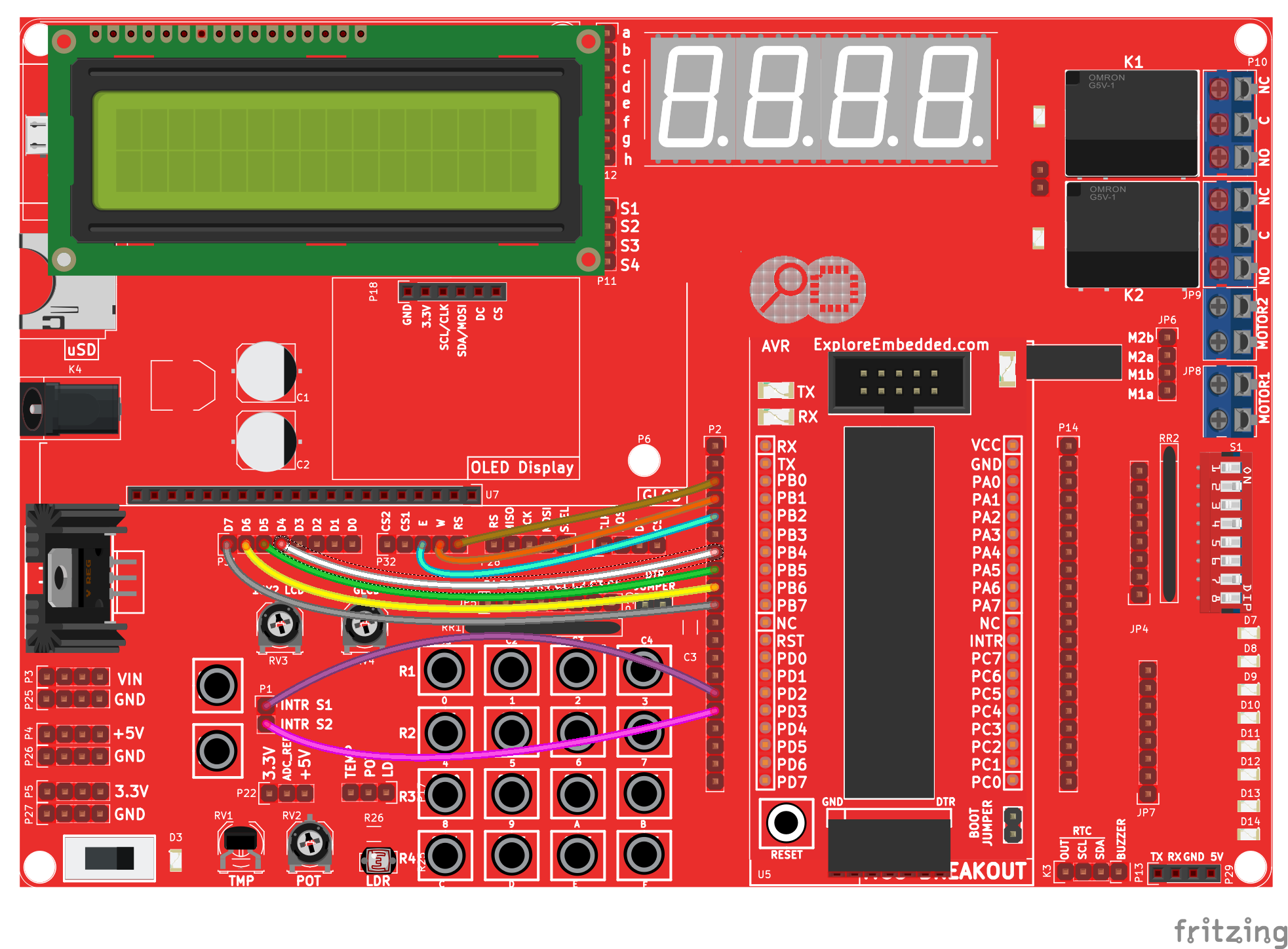 Avr External Interrupts Tutorials The Hardware Is Implemented By Using A Atmega88 Microcontroller Code