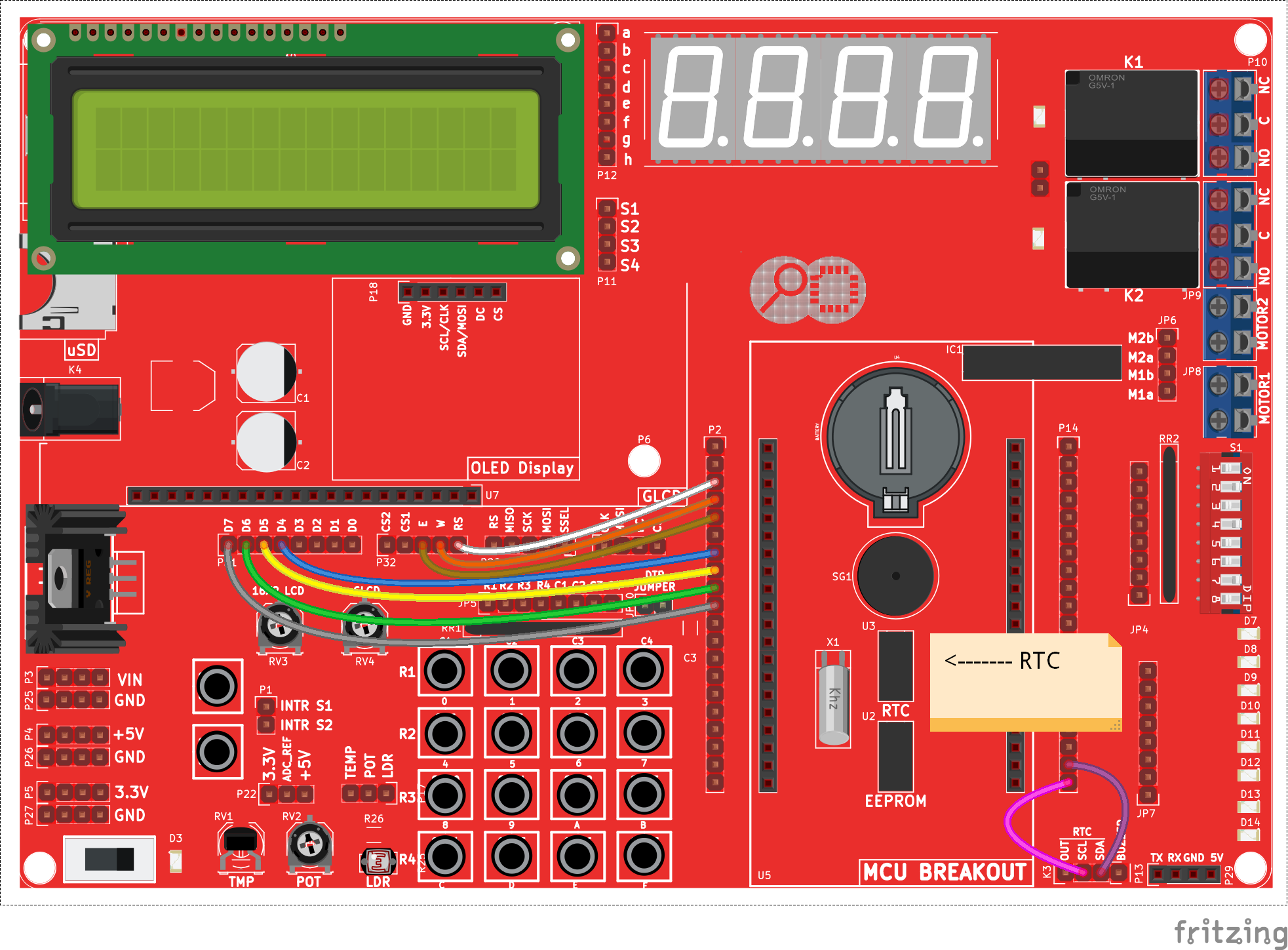 Real Time Clockds1307 With Avr Tutorials Pic12f675 I2c Bit Banging Code And Proteus Simulation Schematic Hookup