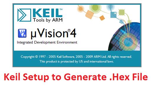 LPC1768: Keil Project For Hex File - Tutorials