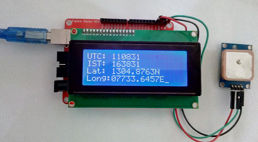 interfacing gps with 8051 Interfaced gps receiver module with 8051 and display the time, latitude, longitude, and altitude info on lcd20x4 display 8051 read the data serially from .