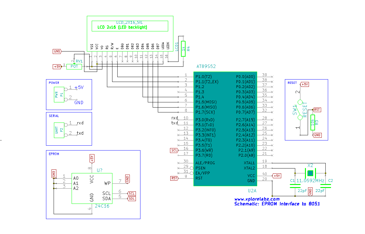 Interfacing eeprom at24c04 with 8051 tutorials baditri Images