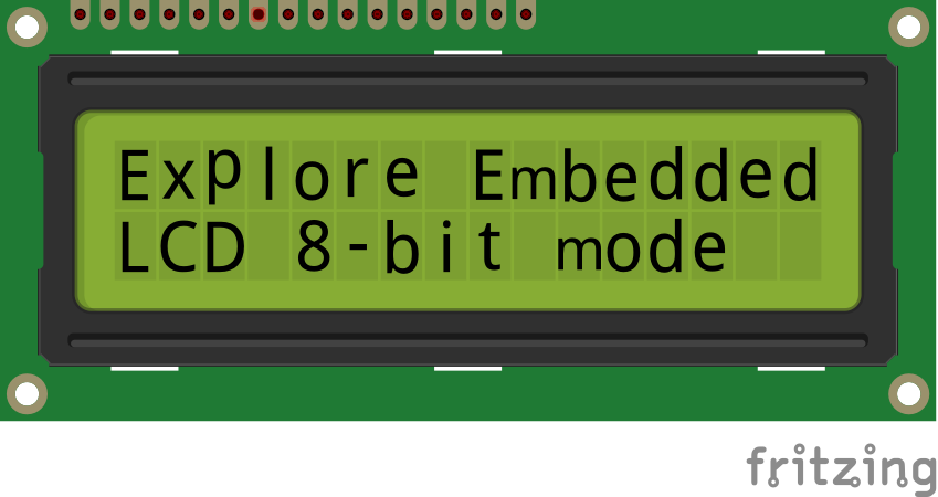 Interfacing LCD with PIC16F877A 8-bit mode - Tutorials