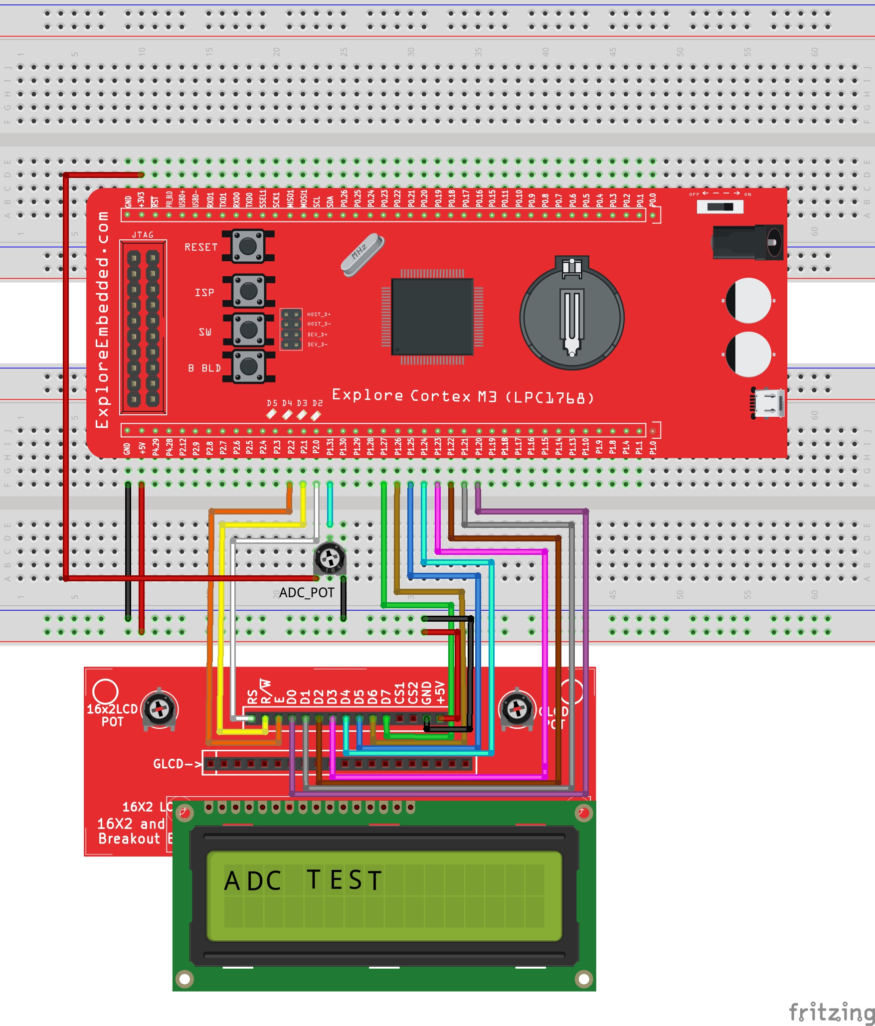 Lpc1768 Adc Programming Tutorials Successive Approximate Circuit Diagram Withlcd