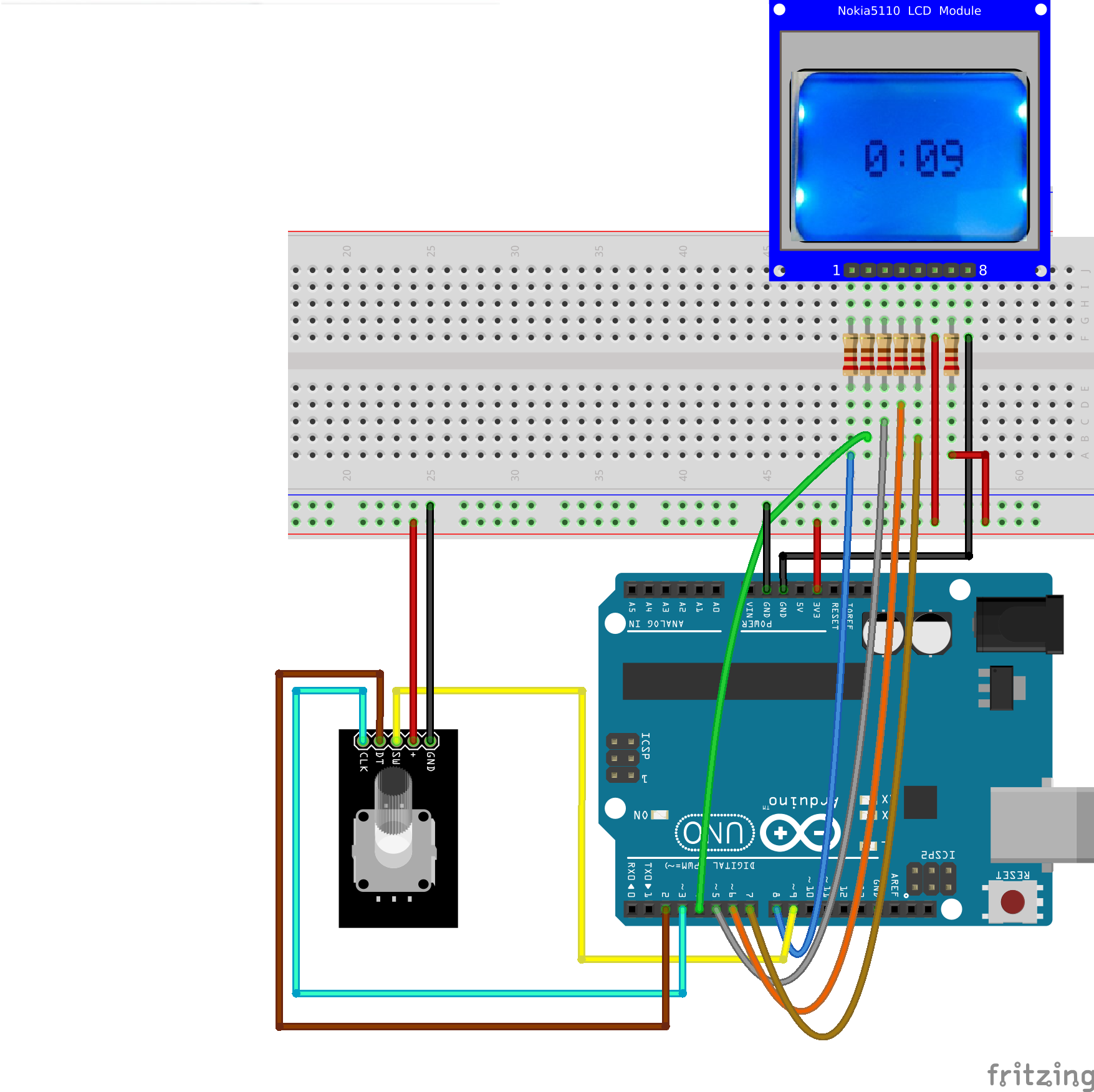Arduino Menu Shield: LCD Rotatory encoder