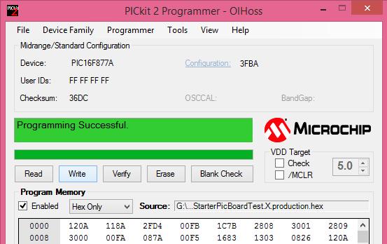 Uploading Hex File Using Pickit2 - Tutorials