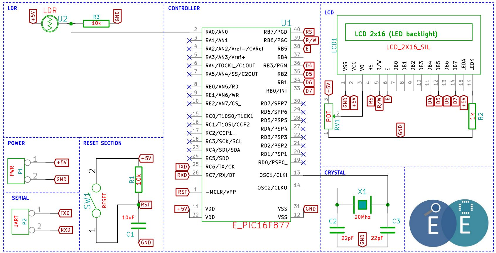 Interfacing Adc To 8051 Fileschematic Pic Lightldr Tutorials