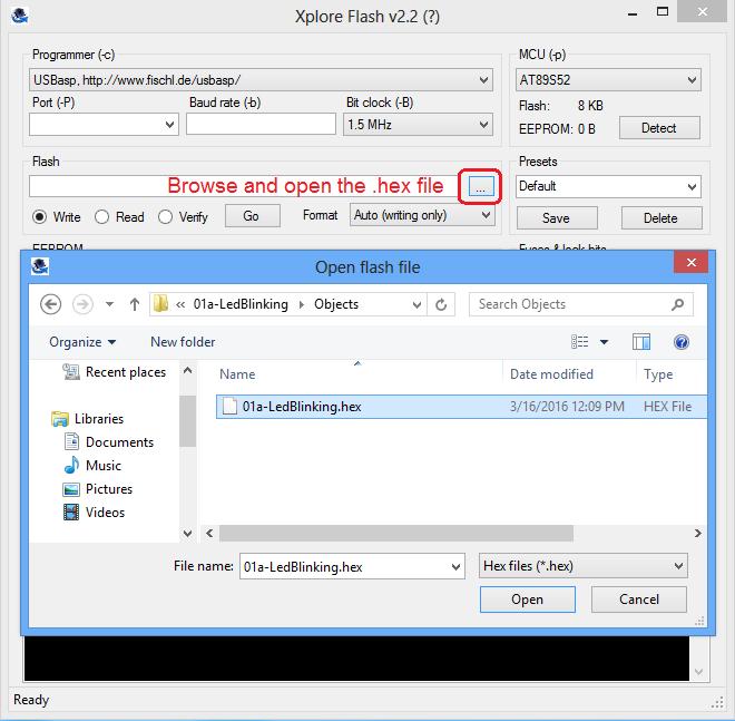 Uploading Hex File Using At89s52 ISP Programmer - Tutorials