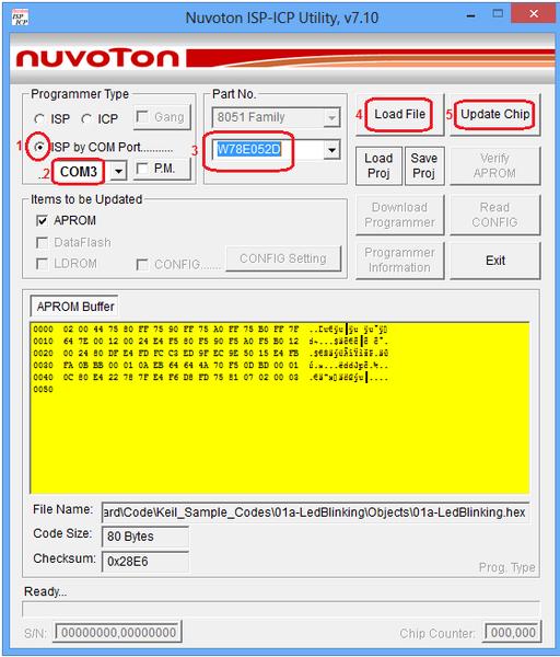 NuvoTon ISP For 8051 - Tutorials